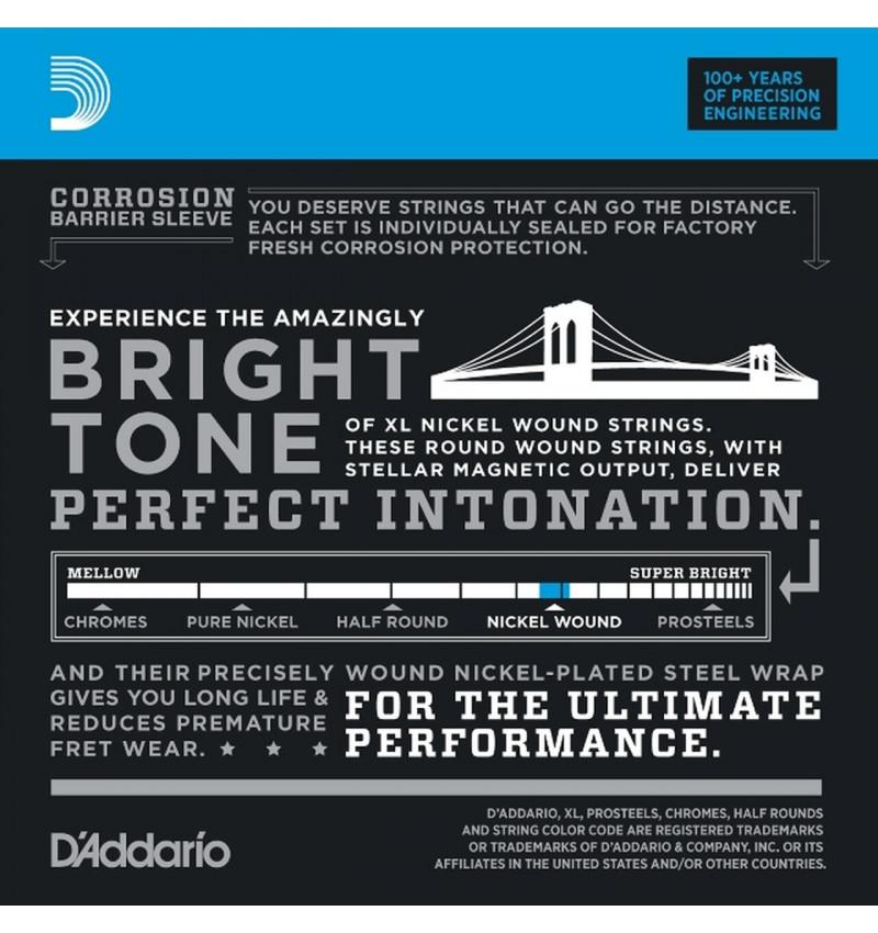 D/'Addario EXL120-7 Nickel Wound 7-String Guitar Strings 09-54 Super Light