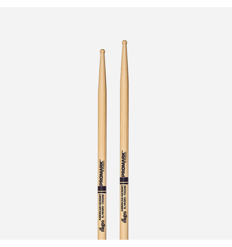 Promark TX424W Hickory 424 Horacio /'El Negro/' Hernandez Wood Tip Drum Sticks
